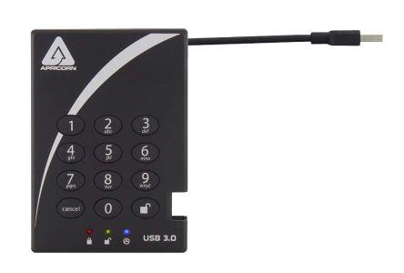Aegis Bio 3 Black 2 TB Portable Hard Drive product photo