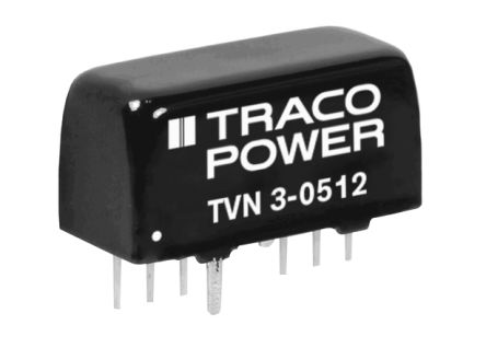 TRACOPOWER TVN 3 3W Isolated DC-DC Converter Through Hole, Voltage in 4.5 → 13.2 V dc, Voltage out ±12V dc