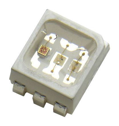 Broadcom 475 / 537 / 627 nm 3 RGB LED, PLCC 6 SMD package