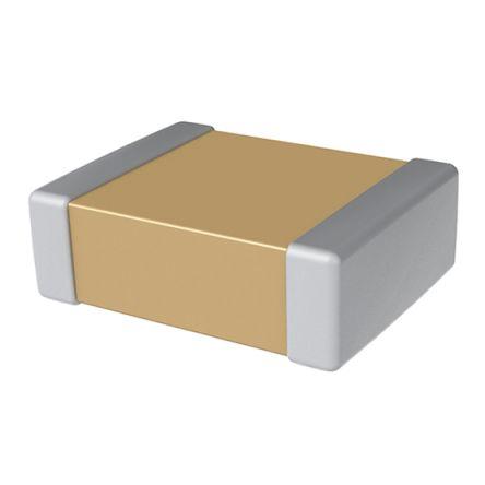 KEMET 0402 (1005M) 100pF MLCC 50V dc ±5% SMD C0402C101J5GACTU