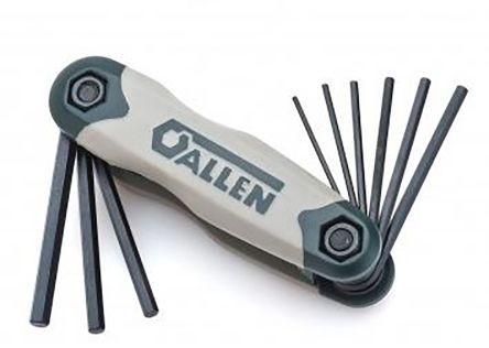 Allen 9 piece Folding Hex Key Set Alloy Steel