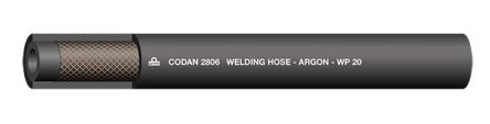 RS Pro 25m Long Black Rubber Hose, Applications Argon, 6.3mm Inner Diam.