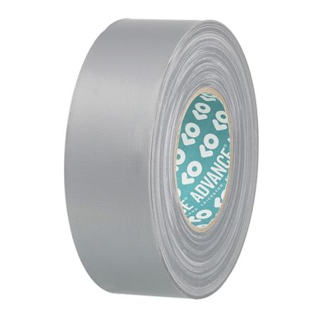 Advance Tapes AT0163 Gloss Silver Duct Tape, 50mm x 50m, 0.3mm Thick, AT163