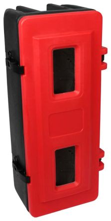 Fire Extinguisher Cabinet, Black, Red