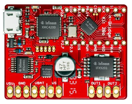 Infineon HBRIDGEKIT2GOTOBO1 H-Bridge Kit 2GO DC Evaluation Board for IFX9201, XMC 1100 for DC-DC Motor Control