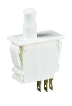 Double Pole Double Throw (DPDT) Door Interlock Push Button Switch, 10 A @ 125 / 250 V ac