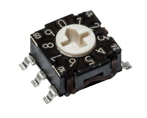 C & K, 16 Position, Hexadecimal Rotary Switch, 100 mA, Solder