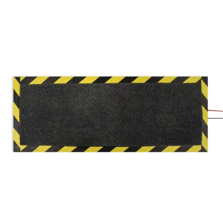 Cable Protection Mat Anti-Slip, Walkway Mat, Carpet, Indoor Use, Black, Yellow, 400mm 1200mm 13mm product photo