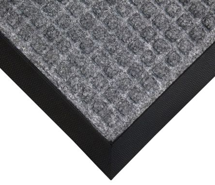 RS Pro Anti-Slip Entrance Mat Indoor Grey 1500mm 900mm 7mm