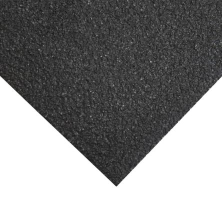 Black Anti-Slip Flooring Glass Fibre Reinforced Plastic, Silicone Carbide Mat With Solid Surface Finish product photo