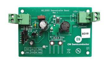 NCL30105GEVB, 350 mA Buck LED Driver Evaluation Board LED Driver Evaluation Board for NCL30105DR2G product photo