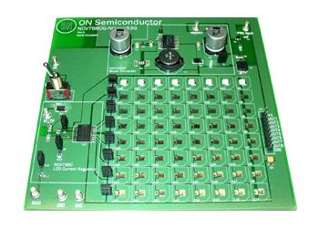 NCV7680PWR2GEVB, Rear Combo Lamp Evaluation Board LED Driver Evaluation Board for NCV7680PWR2G product photo