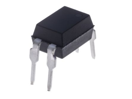 Isocom, TLP620 AC Input NPN Phototransistor Output Optocoupler, Through Hole, 4-Pin DIP