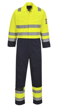 Yellow/Navy Reusable Coverall, XL product photo