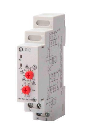 15363 staircase timer light switch, 230 v, 1 → 7 min@ 50 hz, 48 s