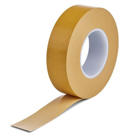 Brown Double Sided Cloth Tape, 25mm x 50m, 0.15mm Thick product photo