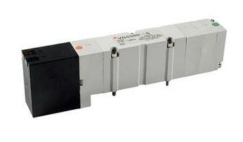 2/1 Pneumatic Solenoid/Pilot-Operated Control Valve Solenoid/Solenoid 3/8 in, Rc VQ Series product photo