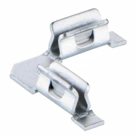 1613601  HARWIN S0981 系列 不锈钢 RFI 屏蔽夹, 表面安装固定, 4.7 x 4.7 x 1.4mm