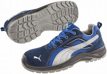 Blue Toe Cap Safety Trainers, UK
