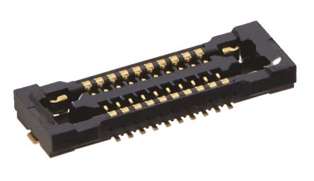 Hirose BM24 Series 24 Series Number 0.35mm Pitch 2, 40 Way Straight SMT Male FPC Connector, Vertical Contact