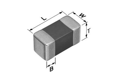 TDK NTC Thermistor 0603 100kΩ, 0.6 x 0.3 x 0.3mm