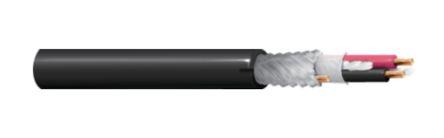 Belden 152m 2 Core Screened Black Instrument Cable, 300 V ac, 5.33mm od Flame Retardant