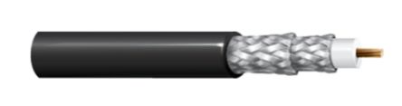 Belden Black RG59 Coaxial Cable 75 Ω 6.15mm OD Polyvinyl Chloride PVC Sheath