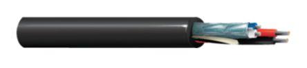 Belden Black 1502R Installation Cable, Aluminium Foil, Aluminium Wire Braid 6.35mm OD 18 AWG, 22 AWG 300 V ac