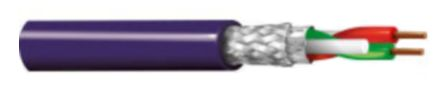Belden 2 Conductor Aluminium/PET Foil Profibus Cable, (IEC 60332-1-2) Purple PVC Sheath, 500m Reel, 70101E Series