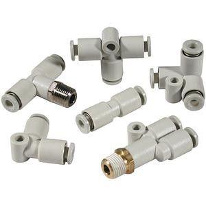 KQ2 Y Connector, Plug In 6 mm x Plug In 6 mm x Plug In 6 mm product photo