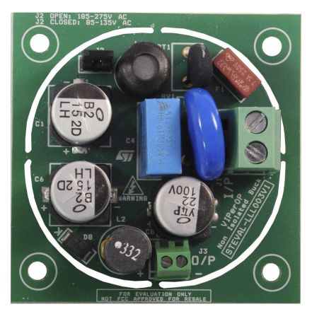STEVAL-LLL003V1, Non-Isolated Constant Current LED Driver LED Driver Evaluation Board for VIPer0P product photo