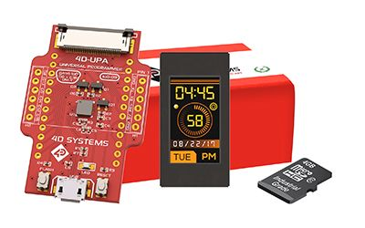4D Systems SK-IoD-09TH TFT LCD Colour Display Starter Kit, 0.9in, 80 x 160pixels