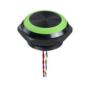 Green Flying Lead Piezo Switch, , IP68, IP69K, 1 A, 1NO, -40 -> +75°C product photo