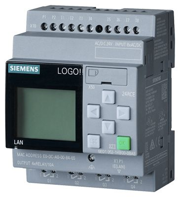 Siemens LOGO! 8.2 Logic Module, 24 V dc, 8 x Input, 4 x Output With Display