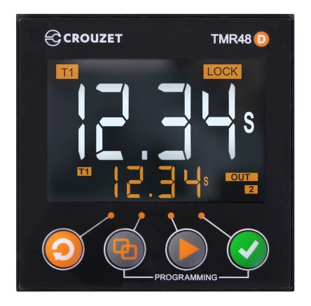 Crouzet 16 Timer Relay, Plug-In, DPDT, 2 Contacts, SPDT, 24 → 240 V ac/dc