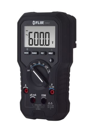 Flir DM62 Handheld Digital Multimeter, 10A ac 600V ac 10A dc 600V dc