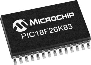 Microchip PIC18LF26K83-I/SO, 16bit PIC18LF Microcontroller, 64MHz, 64 kB Flash, 28-Pin SOIC