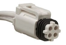 Molex Connector Housing Cable Mount Plug, 4P, Plug-In Termination, 11.5A, 750 V