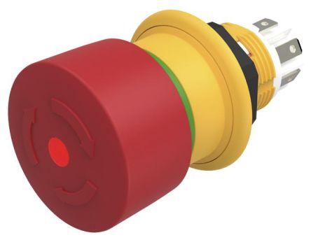 EAO 61 Compact E-Stop - 1 NC, Twist to Reset, 27mm, Mushroom Head