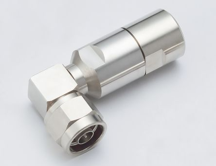 50O Right Angle Cable Mount N Type Connector, Plug, Solder Termination, 3GHz product photo
