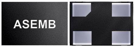 Abracon 50MHz MEMS Oscillator, 4-Pin QFN, ASEMB-50.000MHZ-LC-T
