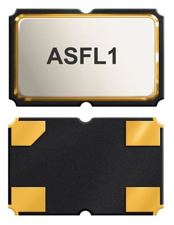 Abracon, 25MHz Clock Oscillator, ±50ppm HCMOS, TTL, 4-Pin SMD ASFL1-25.000MHZ-EC-T