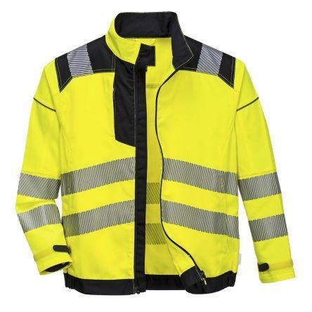 Hi Visibility Fleece Jacket Reflective Coat Yellow or Orange Class3 HiViz Fleece