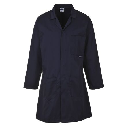 RS PRO Navy Men Reusable Lab Coat, XL