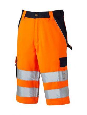 Dickies SA30065 Orange/Navy Men Hi Vis Shorts, 92 → 96cm