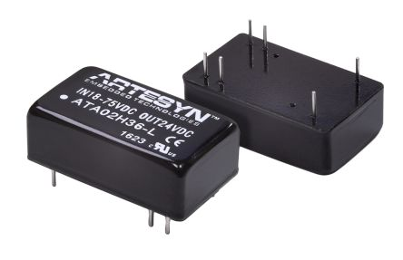 Artesyn Embedded Technologies ATA 6.6W Isolated DC-DC Converter Through Hole, Vin 9 → 36 V dc, Vout 3.3V dc