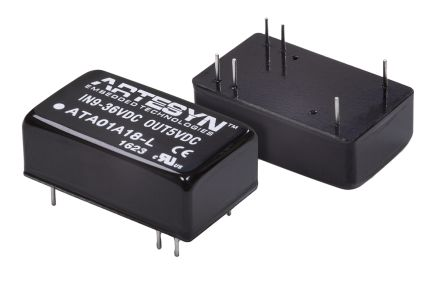 Artesyn Embedded Technologies ATA 6W Isolated DC-DC Converter Through Hole, Vin 9 → 36 V dc, Vout ±15V dc