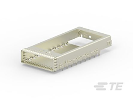 TE Connectivity CFP2 Series 1 Port Straight Cage Assembly 0.6mm Pitch Press-In Termination