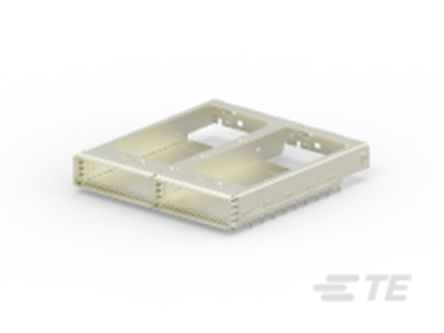 TE Connectivity CFP2 Series Straight Cage Assembly 0.6mm Pitch Press-In Termination