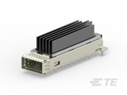 TE Connectivity CFP4 Series 6 Way 1 Port Female Right Angle Network Connector 0.6mm Pitch Press-In Termination